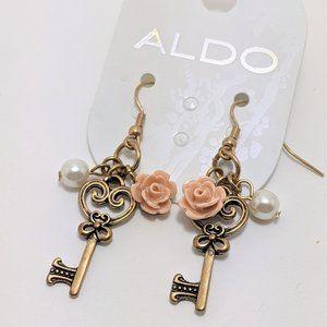Aldo Key Heart earrings